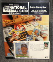1990 EAST COAST NATIONAL CARD SHOW PROGRAM W/ MICKEY MANTLE 1ST DAY COVER CACHET