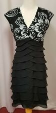 Collection dress barn beaded bodice and ruffled skirt dress size 8