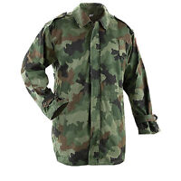 Genuine Serbian Army Issue Lined Camouflage Winter Parka Used