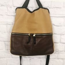 Fossil Erin Color Block Leather Fold Over Convertible Crossbody Bag