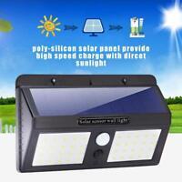 40 LED Energía Solar Sensor PIR Movimiento Seguridad Jardín Luz de Pared Lámpara