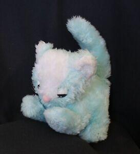 vintage JOY TIME George Tauber blue plush cat kitten Melbourne +- 20cm