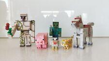 Minecraft Set of 6 Horse, Zombie, Pig, Golem, Leopard, Figure (New w/o Tag)