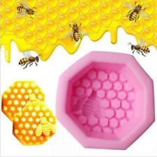 Bee Honeycomb Shape Silicone Soap Mold Handmade Craft Art DIY Soap Molds Gift J