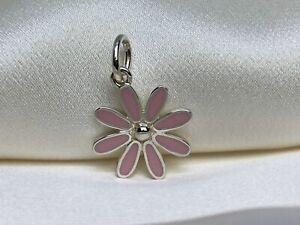 $260 Tiffany & Co. Sterling Silver 925 Pink Enamel Daisy Flower Charm