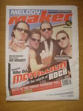 MELODY MAKER 1998 NOV 14 METALLICA RADIOHEAD IAN BROWN