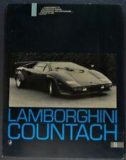 1982-1983 Lamborghini Countach S Sales Brochure Sheet Excellent Original