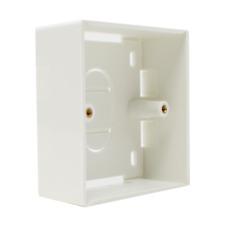 White Surface Mount Backbox Single Gang Electrical Pattress Back Box 86x86x32mm