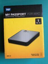 WD WDBJBS0010BSL My Passport for Mac 1TB External Portable Drive USB 3.0 HDD