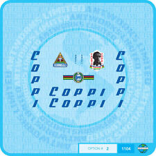 Fausto Coppi Bicycle Decals Transfers Stickers - Set 2