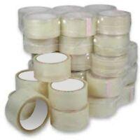 "2"" x 66M Transparent parcel packaging Tape 12 Rolls"