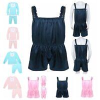 Sissy Men's Satin Baby Romper Fancy Dress Crossdress Lingerie Pajamas Underwear