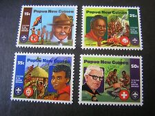 PAPUA NEW GUINEA, SCOTT # 554-557(4),COMPLETE SET 1982 BOY SCOUTS ISSUE MNH