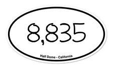 """Half Dome Yosemite Climbing California Oval car bumper sticker decal 5"""" x 3"""""""