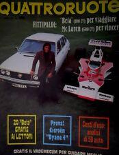 Quattroruote 220 1974 Fittipaldi: Beta per viaggiare, McLaren per vincere [Q71]
