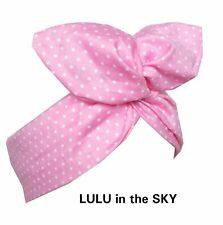 Rockabilly Pin Up wire headband Hair wrap Baby Pink with White Polka Dot Pin Dot
