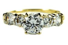 Women's 1.72 ct Simulated Diamond Engagement Ring in 10k Solid Yellow Gold