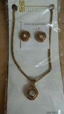 Earring and Necklace Set New Christina Collection Fashion Jewelry Gold Colored