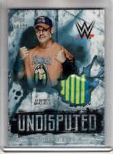 2018 Topps WWE Undisputed JOHN CENA Blue 14/25 AUTHENTIC SHIRT RELIC Rare SP