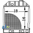 Radiator E9NN8005AB15M fits Ford New Holland 3930 3930H 3930N 3930No 4130 4130N