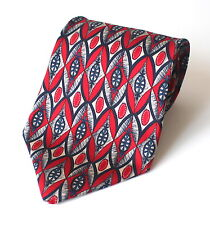 Vintage 100% Silk Christian Dior Men's Tie Cravate Red and Navy