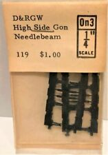 O On3 Grandt Line (119) D&RGW High side Gon Needlebeam & queen posts, plastic