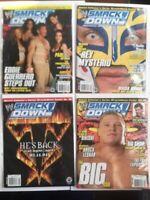 Lot of 4 WWE SmackDown! Magazine 2004 Jan Feb March Apr Mysterio Lesnar Guerrero