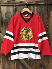 Vtg 90s Chicago Blackhawks Hockey Jersey NHL Adult Size Small CCM Red Patch EUC