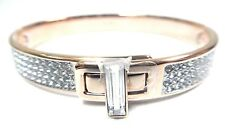 Gave Crystal Bangle, White - Rose Gold Small 2017 Swarovski Jewelry #5294937