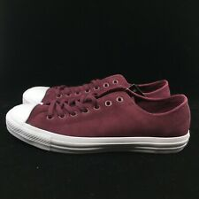 Converse One Star Ox Maroon Burgundy White Low Top Suede 157599C