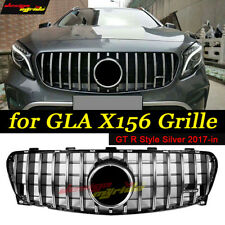 GLA Class GT R Grill X156 Grille Silver For Mercedes BenzGLA200 GLA250 2017-2018