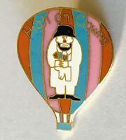 High On Clowns Sad Clown Hot Air Balloon Pin Badge Rare Vintage (E1)