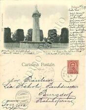 Cartolina di Palermo, fontana d'Ercole - 1899