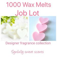 1000 scented Wax Melts Job Lot. 10 Designer Fragrance Home & Candle Scents