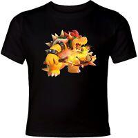 Super Mario Bowser Fire Tennis Unisex Men Women Funny Cool Art Graphic T-Shirt