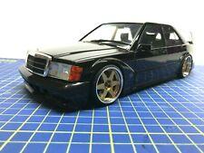 1/18 - Mercedes-Benz 190 e 2.5-16 Evo. II Negro-modificada-como Nuevo