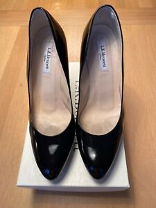 LK Bennett Black Patent Andie Shoes Size 41