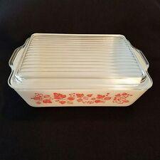 Vtg Pyrex Pink Gooseberry 1 1/2 Qt 503 Refrigerator Dish and Lid 503C