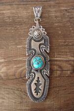 Navajo Sterling Silver Turquoise Pendant - Kevin Billah