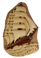 Sail Boat Handmade Intarsia Puzzle Box Crafted from Beachwood