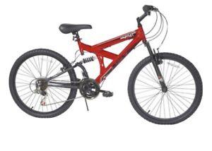 READY TO SHIP! Dynacraft 24-Inch Wheel 18 Speed Dual Suspension Boy's Bike - Red