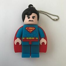 1 New Novelty Lego Superman Character, 128MB USB Flash Drive Memory Stick