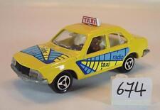 Majorette 1/60 nº 266 renault 18 Limousine taxi amarillo #674