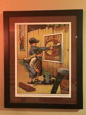Pearl Jam Hartford Poster Framed Justin Hampton - Rare