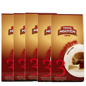 Kaffee Creative 3, Paket 5 x 250g, 1,25 kg,  Bohne Arabica, Trung Nguyen Vietnam