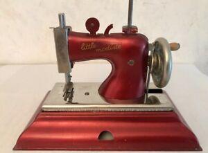 "VINTAGE ""CASIGE LITTLE MODISTE BURGUNDY SEWING MACHINE""  NR"