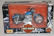 MAISTO moto 1/18 HARLEY-DAVIDSON XLH SPORTSTER 1200  + boite , état neuf