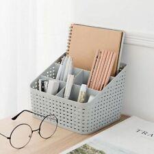 Tabletop Organizer for Makeup Coffee Table Magazines Imitation Rattan Grid