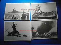 lotto 4 vere fotografia navi da guerra sequenza di affondamento di una nave