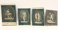 Lot Of 4 Antique Engraving Print Pierres Gravees Mythology J Wicar Bertaux Color